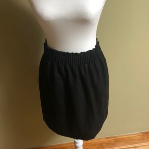 J Crew black wool miniskirt - size 2